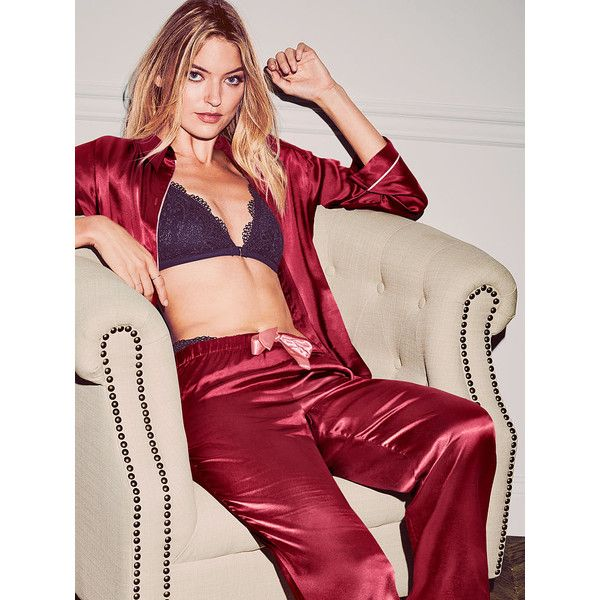 Victoria's Secret The Afterhours Satin Pajama (1.631.520 VND) ❤ liked on Polyvore featuring intimates, sleepwear, pajamas, pink, victoria secret pjs, victoria's secret, petite sleepwear, petite pajamas and satin short pajamas