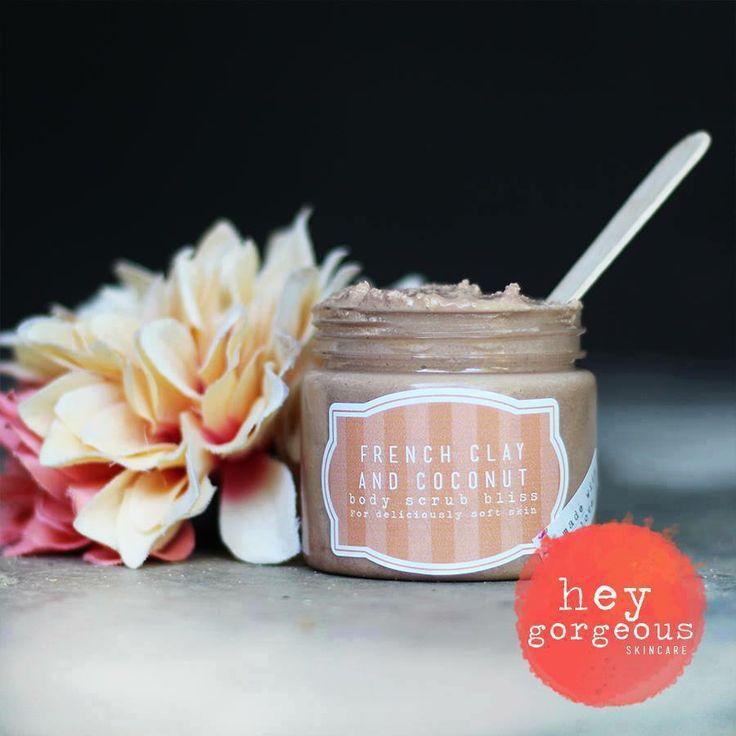"Our new French Clay and Coconut Body Scrub is amazing! It will help to clear, heal and rejuvenate almost any type of skin problem. Red clay is so good for your skin. It has enormous absorbent powers due to the nature of its micro molecules that literally ""drinks"" oils, toxins and impurities from your skin"