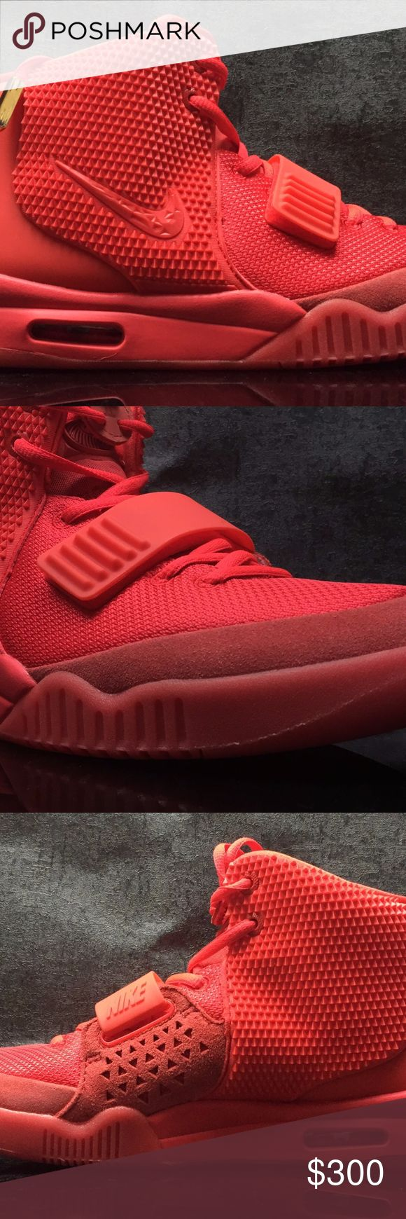 "Nike Air Yeezy 2 SP ""Red October"" UA! NEW WITH BOX! 9~12 SHIPPING DAYS Nike Shoes Sneakers"