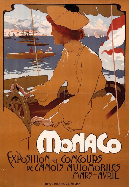 www.italialiberty.it - Adolfo Hohenstein, manifesto pubblicitario MONACO del 1900.