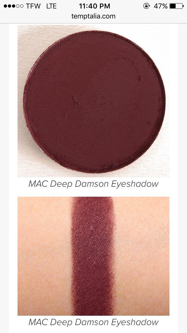 Mac Deep Damson eyeshadow