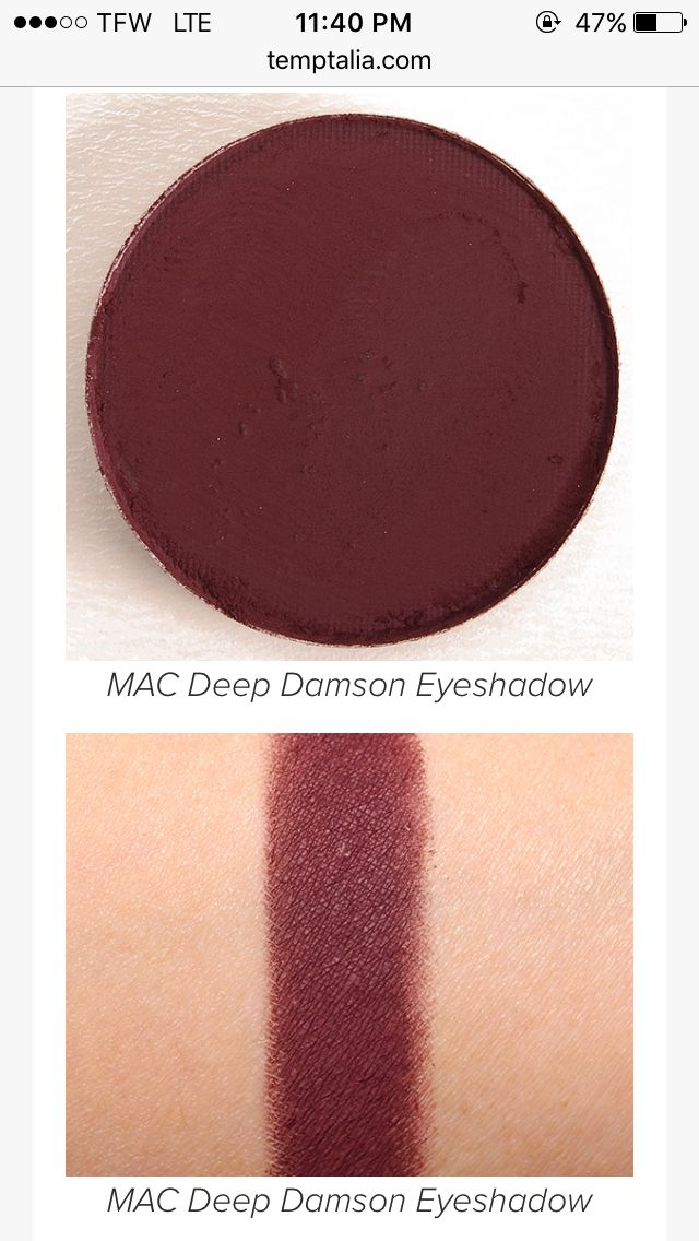 Mac Deep Damson eyeshadow