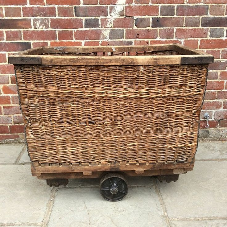 Essential equipment in Victorian mills sturdy wicker baskets were used to transport materials. Read our tips on repurposing these vintage pieces for the home
