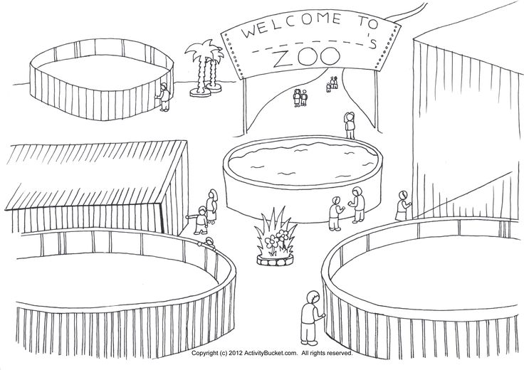 zoo kindergarten coloring pages - photo#32