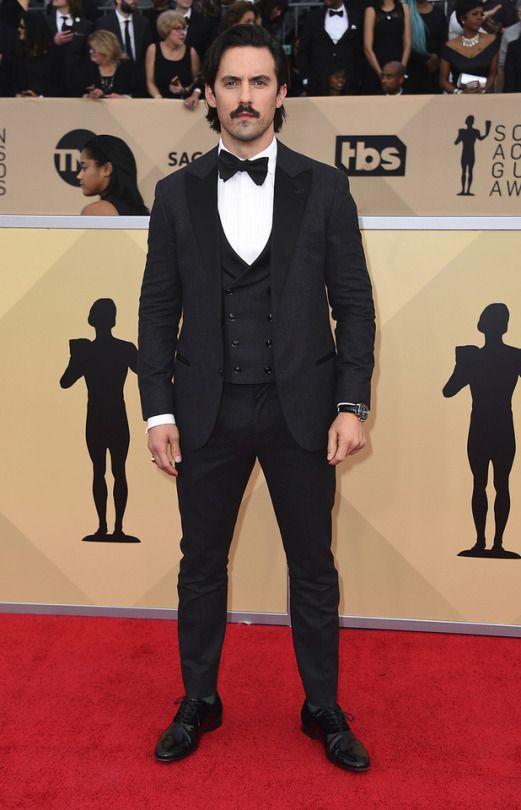 Milo Ventimiglia attends the 24th annual Screen Actors Guild Awards in Los Angeles, 21 Jan 2018
