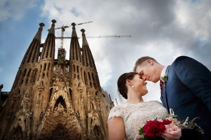 wedding photography in Sagrada Familia, Barcelona