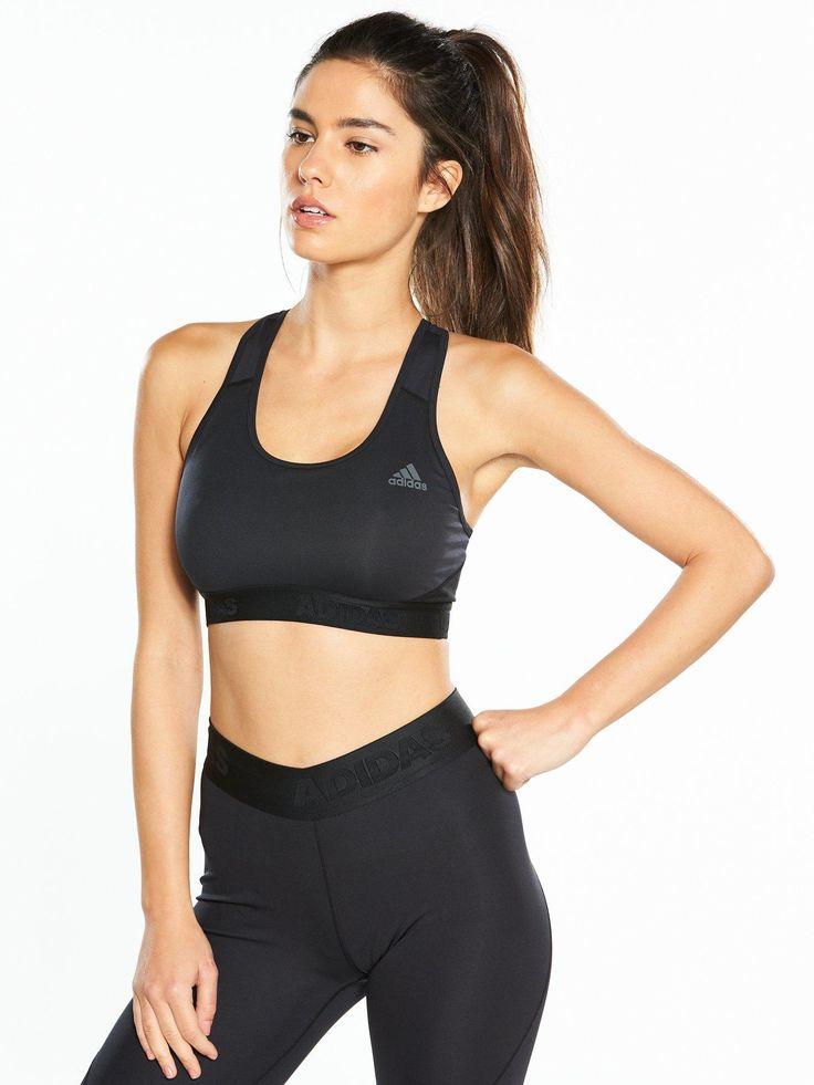 Alpha Skin Medium Support Sports Bra Adidas design