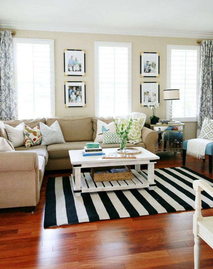 Living Room Sources & Design Tips - layout idea for our FR