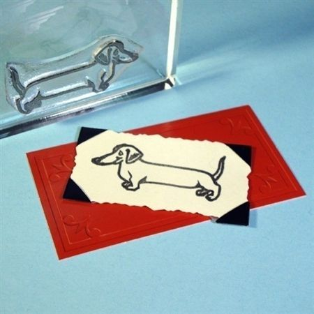 Wiener Dog Clear Polymer Rubber Stamp Doxie Moxie