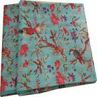 Indian Bird Print Twin Size Kantha Quilt  Blanket Bed Cover Cotton Kantha Throw …