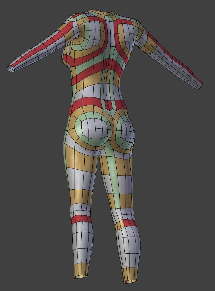 3d Models For Poser And Daz Studio: Blender Human Topology - Google Search