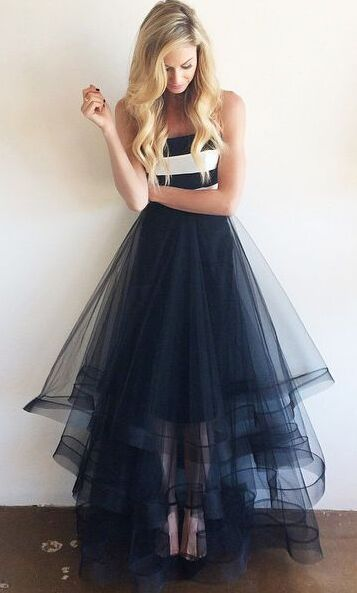 Prom Dresses For Teens,High Low Prom Dresses,Plus Size Prom Dresses,Party Dresses, Navy Blue Prom Dresses,Tulle Prom Dresses,White Stripe Prom Dress,Simple Prom Dresses,Cheap Prom Dresses,Long Prom Dresses,Strapless Prom Dresses