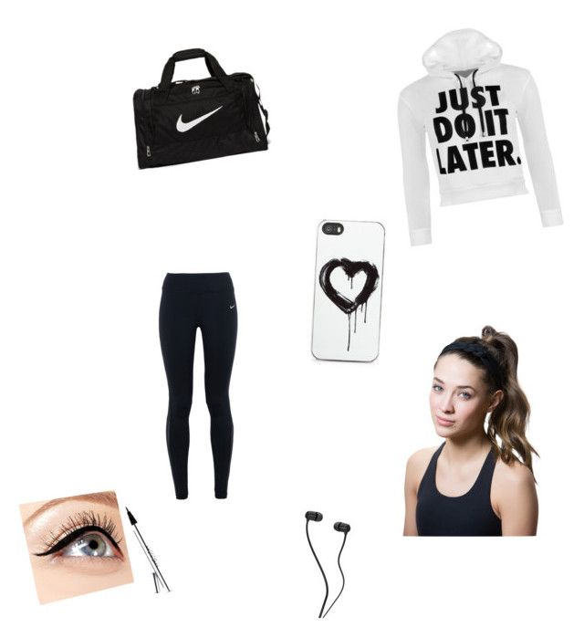 going to the gym by fabulouschloe on Polyvore featuring polyvore fashion style WearAll NIKE Titika Zero Gravity Luminess Air