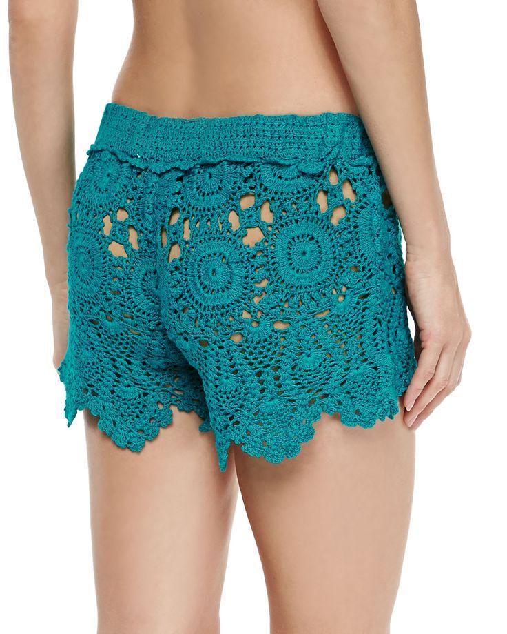 Letarte Crochet Coverup Shorts