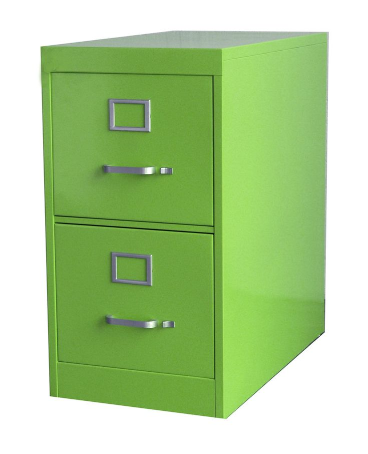 File Cabinet 2 Drawer Green