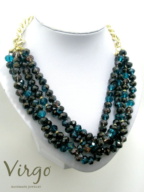 Handmade Crystal Bead and Golden Chain Necklace.  Size: approx. 45cm  We can resize for you, all of our jewelries, so feel free to ask!  Τhe necklace comes in a gift box!  Do you like this item? See more at: https://www.etsy.com/shop/VirgoHandmadeJewelry  Like us on Facebook:  https://www.facebook.com/VirgoHandmadeJewelry  or   follow us on Pinterest: www.pinterest.com/VirgoJewelry   Thanks for stopping by - Virginia