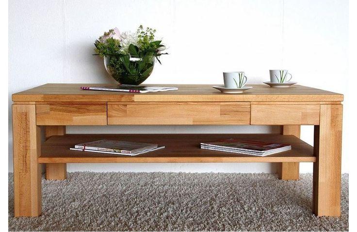 Table de salon en bois massif - Meuble de salon en hêtre massif - Meuble et canape.com