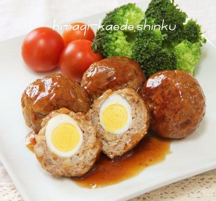 お弁当にも◎!うずら卵入りコロコロ照り焼きハンバーグ  冬のひいらぎ 秋のかえで*shinkuのレシピ&ライフ