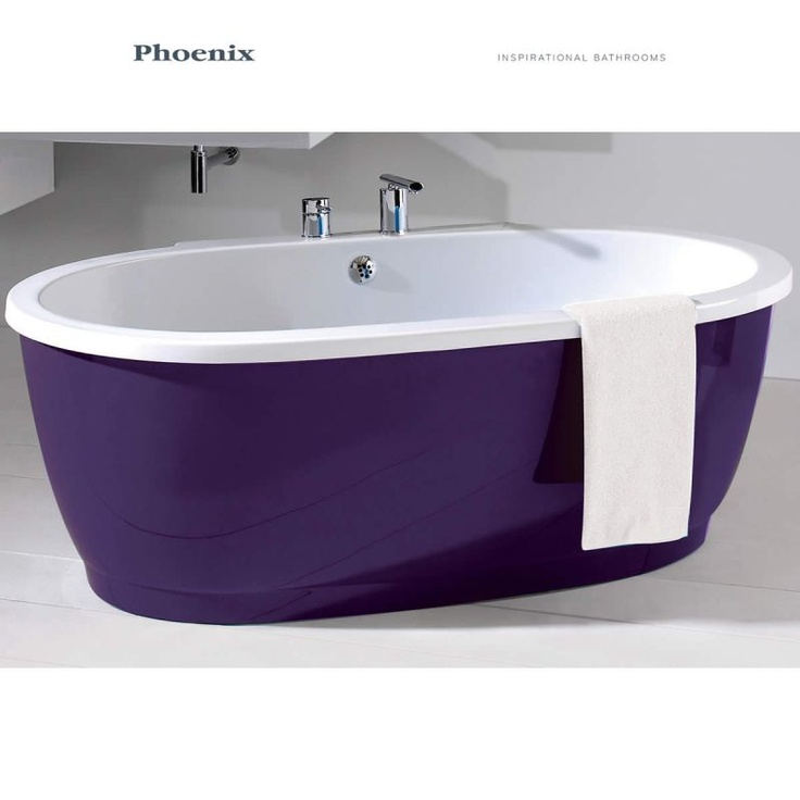 50 best images about pink and purple bathroom ideas on for Purple glass bathtub
