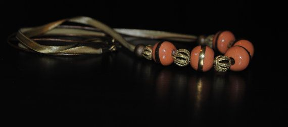 Elegant Peach Necklace by MixNBeads on Etsy, $25.00