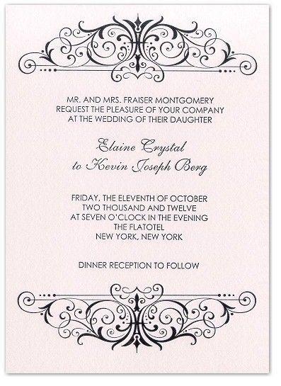 23 best traditional wedding invitation wording images on Pinterest