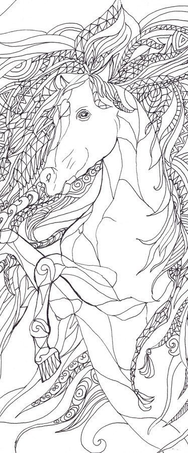 Colouring Pages Coloring Books Tangle Art Doodle Pictures Adult Hand Drawn Zentangle Clip