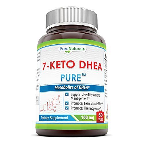 Pure Naturals 7-Keto DHEA Veg Capsules, 100 mg, 60 Count *** Read more reviews of the product by visiting the link on the image.