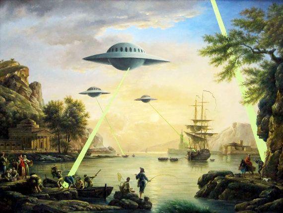 Banksy Poster Print   Alien Invasion  Multiple par daveyknew84