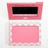Nueva styleThebalm Instain De larga duración Powder Blush tinción El Bálsamo Angyle colorete paleta de maquillaje de color rosa , envío libre