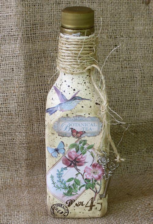 Botellas de té pintado Botánico                              …