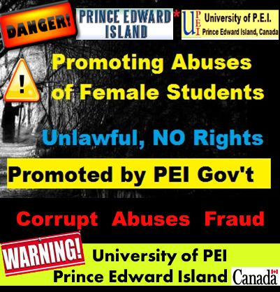 UPEI promoting abuses of female students