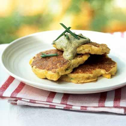 Similar to pancakes, johnnycakes are made with cornmeal for a bit of crunch. This appetizer version pairs sweet bay scallops with crisp...