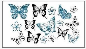 (Минимальный заказ $0.5) временные Татуировки Для мужчина Женщина Водонепроницаемый Наклейки макияж maquiagem составляют виды татуировки бабочки WM179