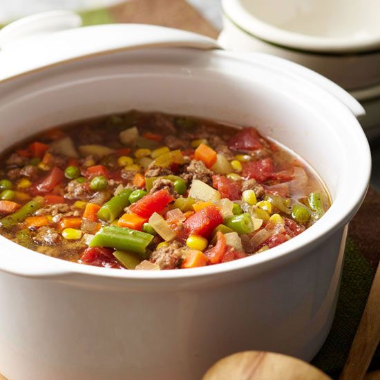 Hamburger-Vegetable Soup from the Better Homes and Gardens Must-Have ...