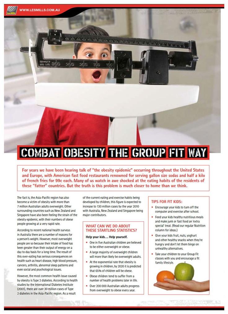 Les Mills - Combat Obesity The Group Fit Way - Design & Branding