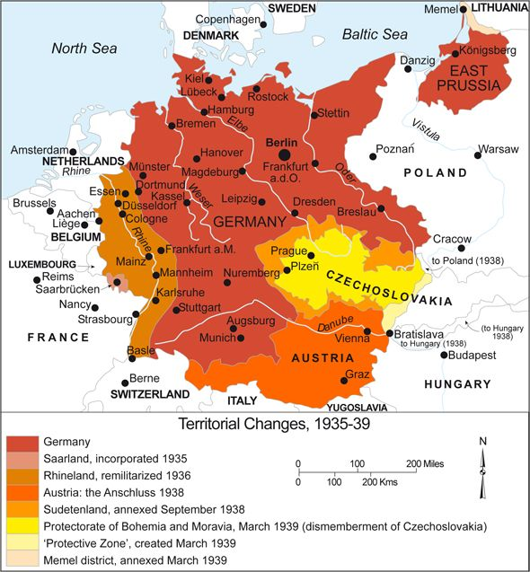 Germany Territorial Expansion Rise Of The Third - Germany map post ww2