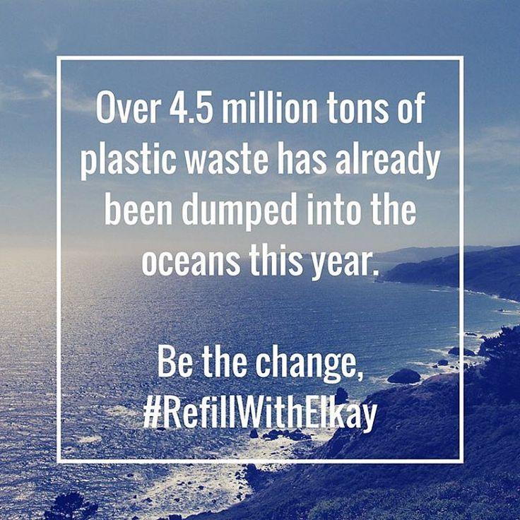 Ponad 4,5 mln ton plastikowych butelek zostało wrzuconych do oceanów w tym roku. Dzięki stacjom wody pitnej zmieniamy świat na lepsze. Zrezygnujmy z plastiku!