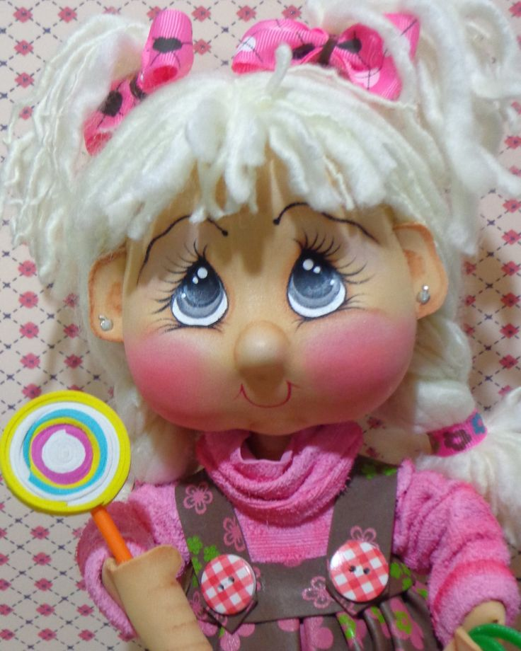 """Moldes Fofucha Marolita Golosita Creaciones Marolita comparte los moldes de su muñeca 3D de goma eva """"Golosita"""". Una auténtica belleza."""