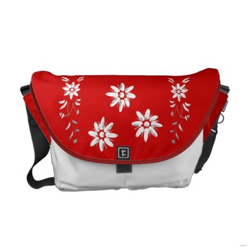 Swiss flag and edelweiss courier bags