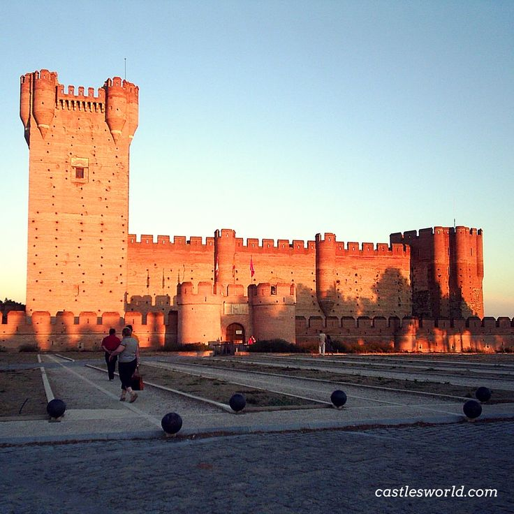 Castillo de La Mota, Spain An impressive medieval fortress located on an elevated hill made entirely of local red brick
