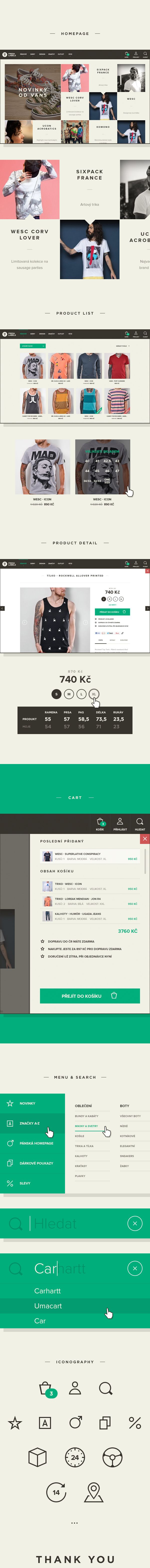Freshlabels: Online fashion store by Filip Slováček, via Behance