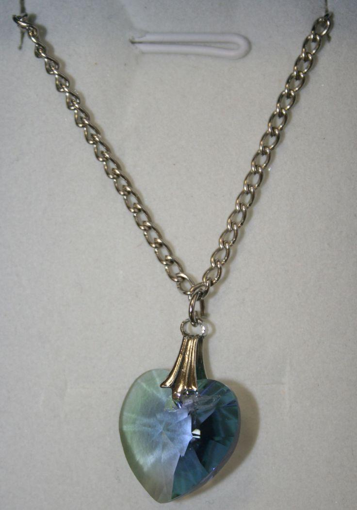 Kék szívecske nyaklánc