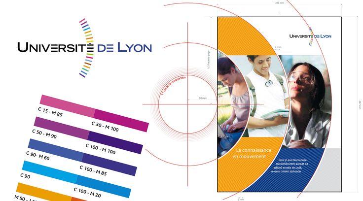 Université de Lyon - Identité visuelle, logotype et charte graphique