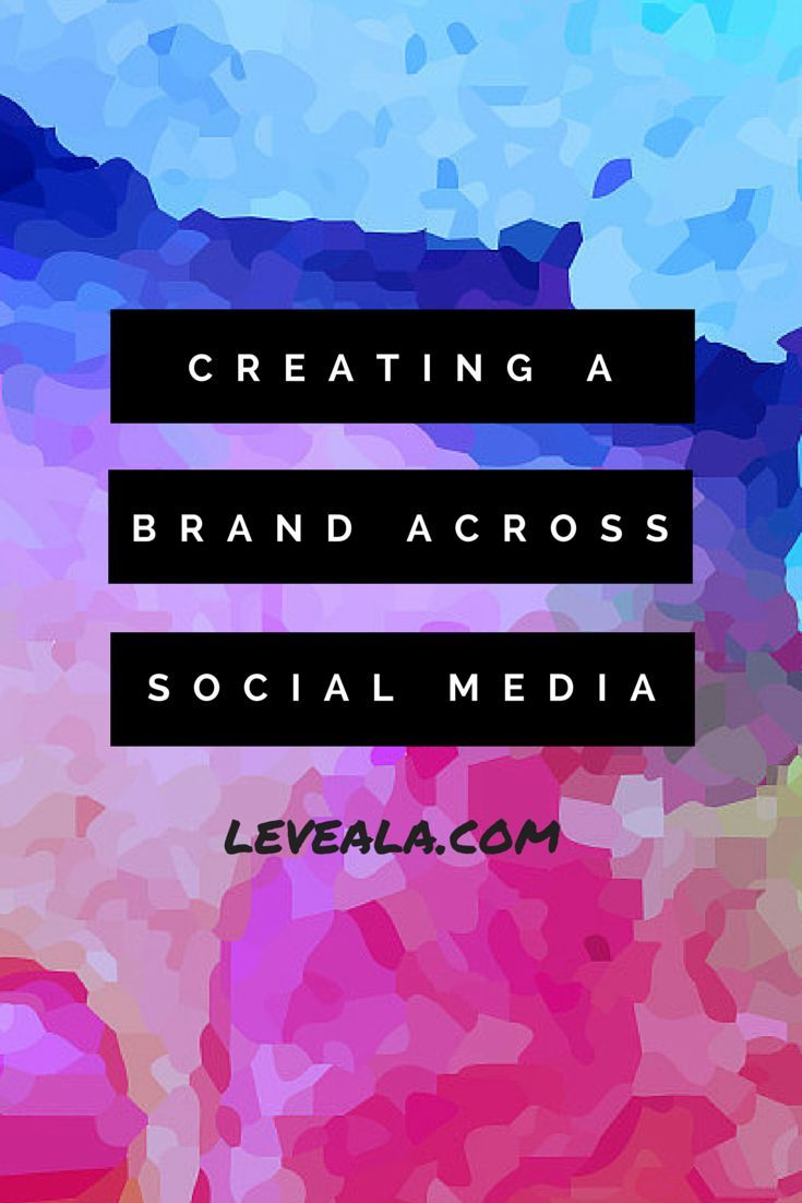 Creating a brand across social media - it's important to make your social media accounts look cohesive when you are marketing and trying to get more followers.