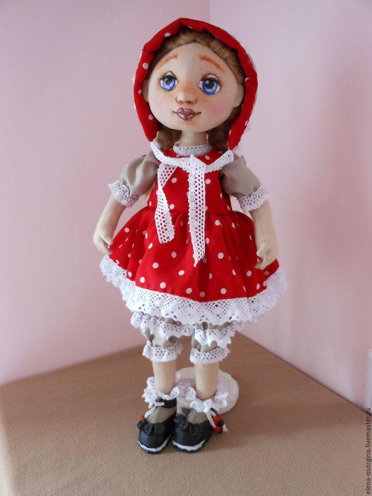 Купить Аннушка. Текстильная кукла. - ярко-красный, текстильная кукла, кукла интерьерная, кукла в подарок