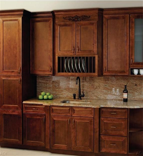Kitchen Cabinet Refacing Nj: The WAVERLY MAPLE Is A Most Intriguing Chocolate Brown