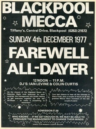 Farewell all-dayer for the famous Blackpool Mecca