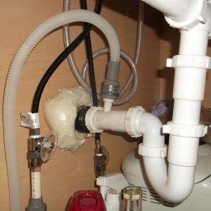 Kitchen Sink Clogged Below P Trap