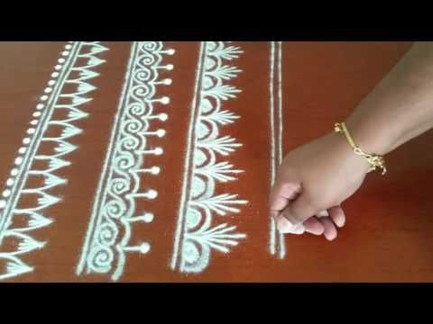 Basic Pattern for Mandalas and Freehand kolam -  Border design