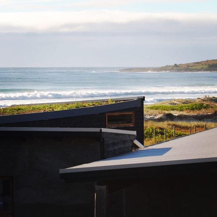 Roofline and shoreline... take in the ever changing moods of the sea and sky from your own private holiday hideaway at #malibuonthebeachtas #bythesea #beachside